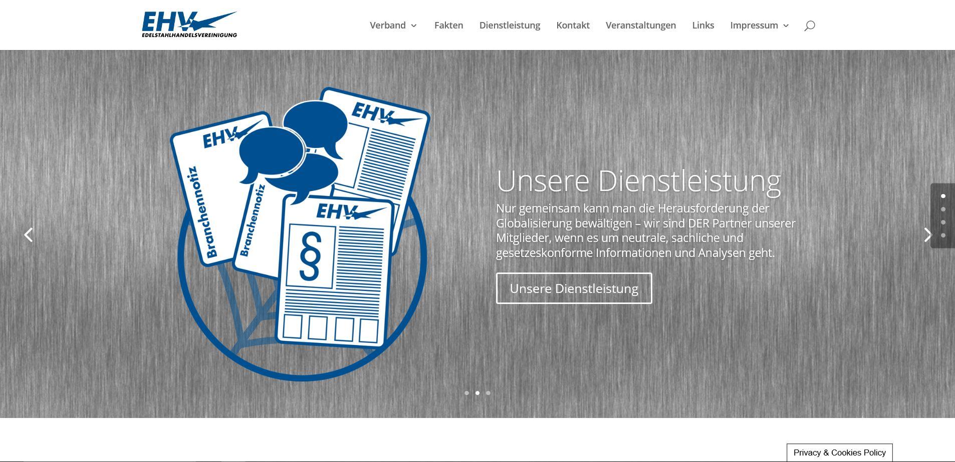 Homepage der Edelstahlhandelsvereinigung